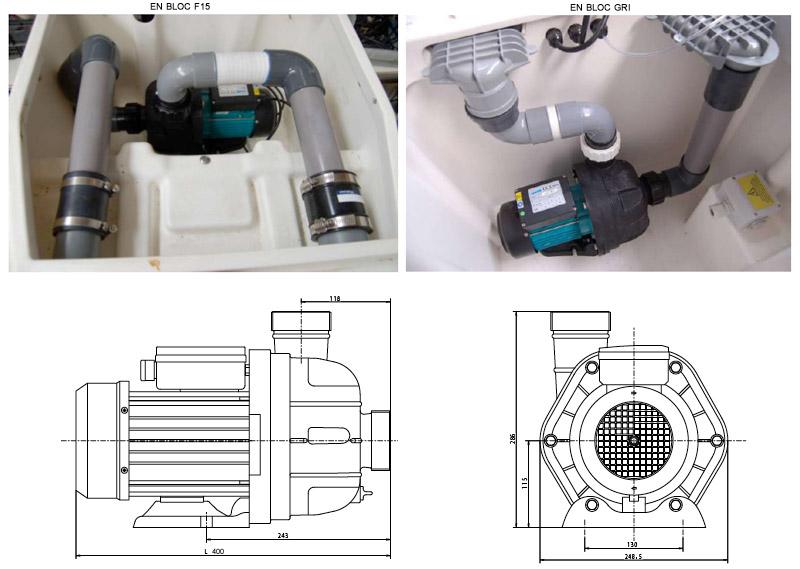 Pompe de filtration 1cv pour bloc desjoyaux f15 et gri for Piscine pour handicape moteur